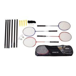 RAQUETAS BADMINTON -4 raquetas, bolso, poste, red y 2 volantes